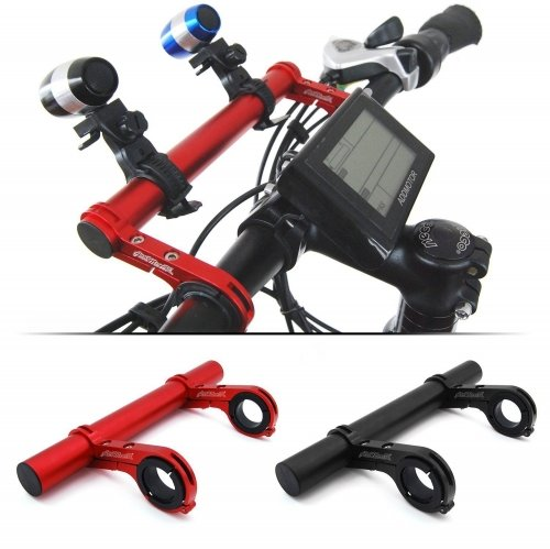 Addmotor Bike Bicycle HandleBar Lamp Bracket Holder Extender Mount Extension 20CM
