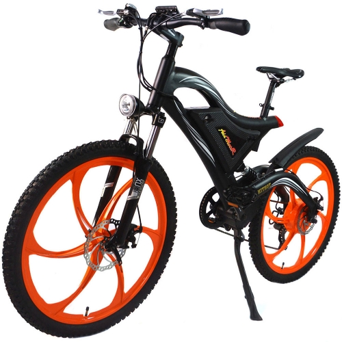 Addmotor HITHOT Mountain Electric Bike Bicycle Double Suspension 500W 26 Inch Magnesium Integral Wheel Mountain E-bike H2