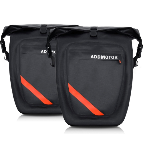 A Pair of Addmotor Bike Cycling Rear Rack Bag Waterproof Large Capacity Package Dual-Use Portable Storage Bags