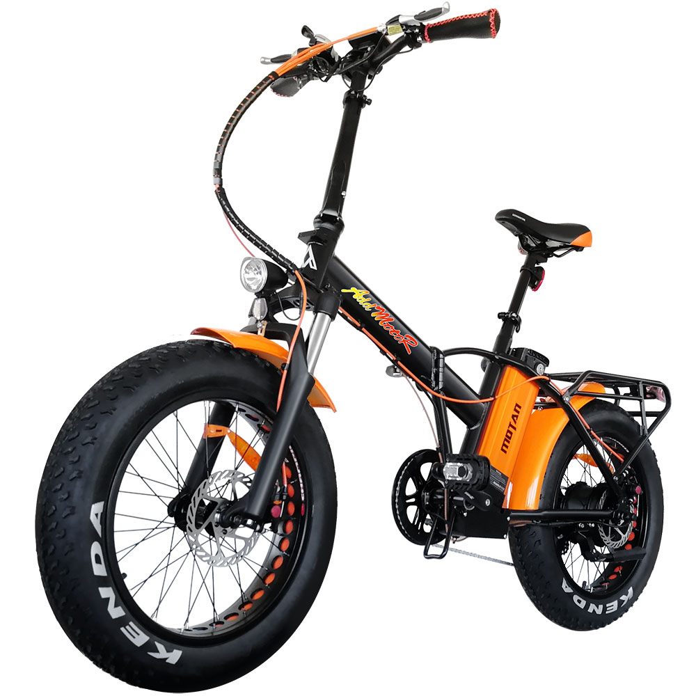 addmotor motan folding electric bicycle powerful  motor strong frame   fat tires fork