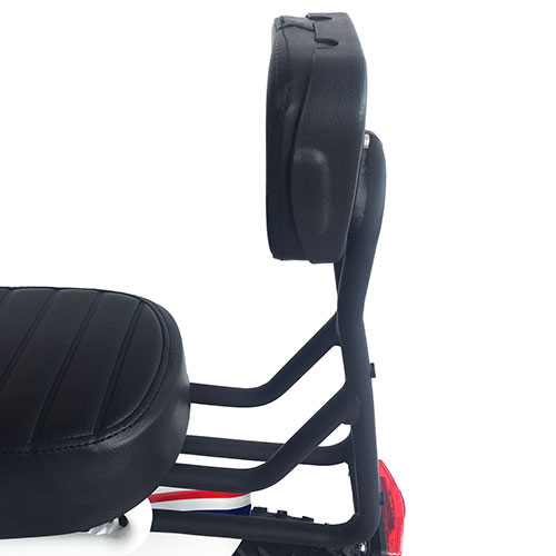 Addmotor Electric Bike Backrest Rear Back Seat Cushion With Soft Thick Pu Leather