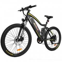 HITHOT  H1 Platinum Electric Mountain Bike 27.5'' Full Suspension + Two Bags as Free Gift