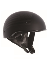 TORC® T-55 Drop Down Half Shell Helmet Black Flag